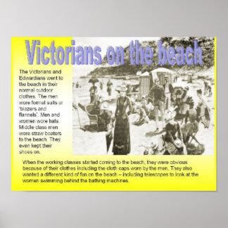 História, Victorians na praia Poster