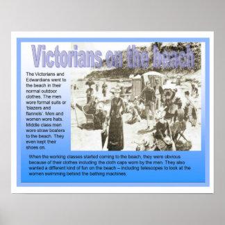 História, Victorians na praia Posteres