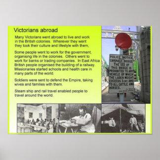História, Victorians no exterior Posteres
