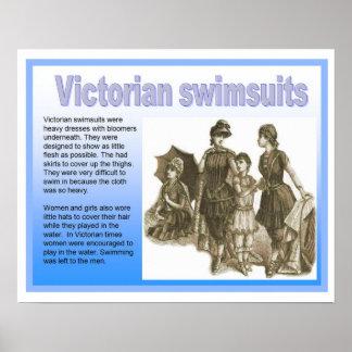 História, Victorians, roupas de banho Poster