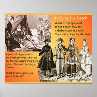 História, Victorians, século XIX, praia Posteres