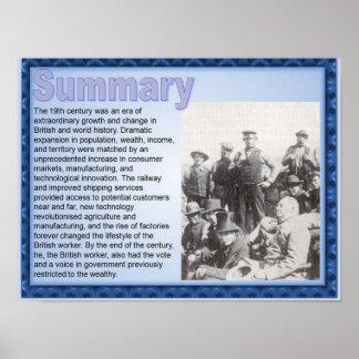 """História, Victorians, sumário """"do século XIX"""" Pôsteres"""