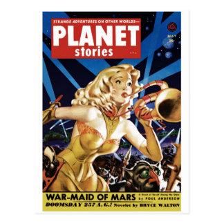 Histórias do planeta - Warmaid do cartão de Marte
