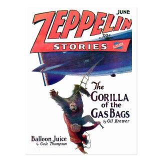 Histórias do zepelim cartão postal