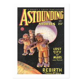 Histórias surpreendentes cómicas 1934 de Sci Fi do Cartão Postal