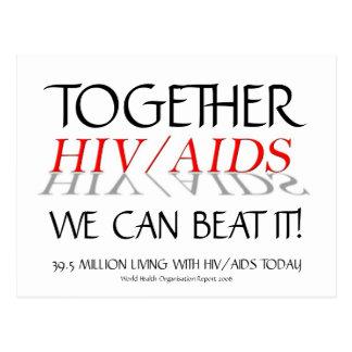 HIV/AIDS junto nós podemos batê-lo! cartão de |