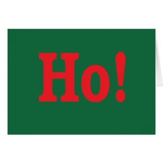 Ho! Cartão do feriado com piscar os olhos manhoso
