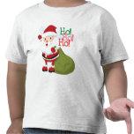 Ho-Ho-Ho camisa das crianças do papai noel T-shirts