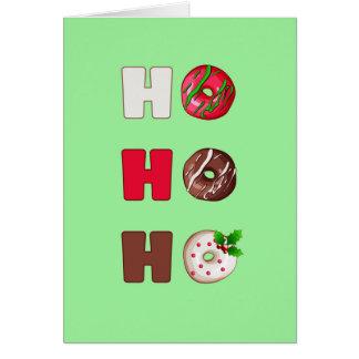 Ho Ho Ho cartão de cartões de natal do Natal da