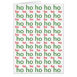 Ho-Ho-Ho cartão de Natal