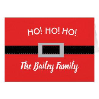 Ho! Ho! Ho! Cartão de Natal personalizado