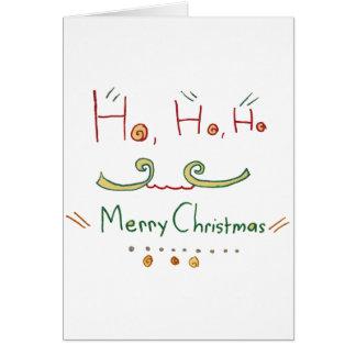 HO HO HO cartão do Feliz Natal