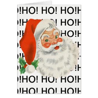Ho! Ho! Ho! Cartão do papai noel do Feliz Natal
