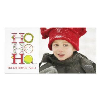 HO HO HO cumprimento do Natal do feriado Cartao Com Fotos Personalizado