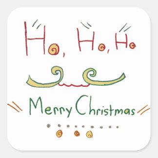 HO HO HO etiqueta do Feliz Natal