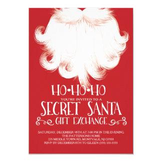 HO HO HO festa de Natal secreta do papai noel Convite 12.7 X 17.78cm