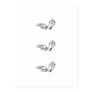 Ho Ho Ho no linguagem gestual Cartoes Postais