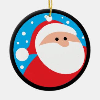 Ho Ho Ho! Papai Noel Ornamento De Cerâmica Redondo