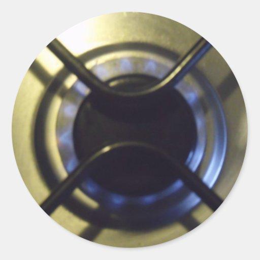 hob do fogão adesivo em formato redondo