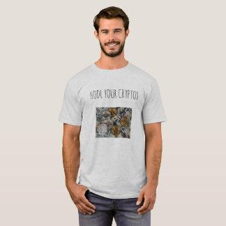 Hodl sua camisa dos cryptos t