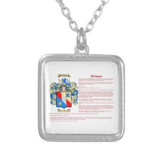 Hofmann (significado) colar banhado a prata