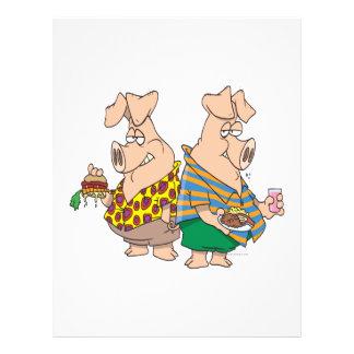 hogs desenhos animados engraçados dos porcos do po panfletos