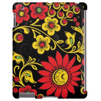 Hohloma floral capa para iPad