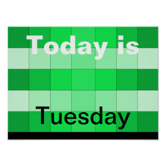 Hoje é terça-feira poster