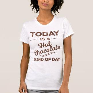 Hoje é um tipo do chocolate quente do t-shirt do camiseta