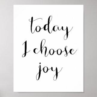 Hoje eu escolho o poster da alegria