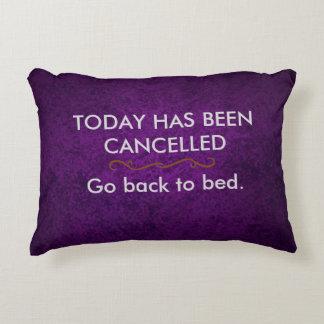 Hoje foi cancelado almofada decorativa