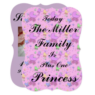Hoje Nascido Anúncio da princesa Ser