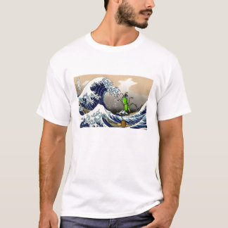 hokusai_1280-800, hopper-karatekid_TS Camiseta