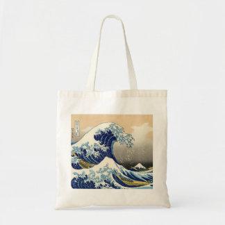 Hokusai a grande sacola da onda sacola tote budget