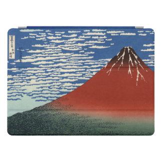 Hokusai Fuji vermelho, vento sul, céu claro Capa Para iPad Pro
