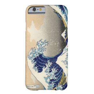 Hokusai o grande exemplo do iPhone 6 da onda Capa Barely There Para iPhone 6