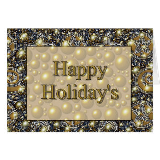 Holiday&apos feliz; s cartão comemorativo