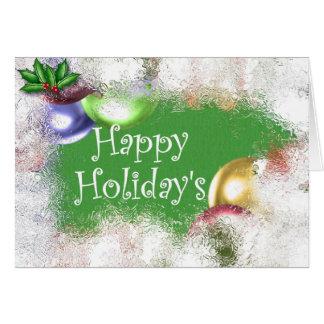 Holiday&apos feliz; s cartoes