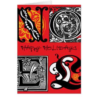 'Holiday feliz Cartão Comemorativo