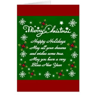 Holidays#4_ feliz cartão de nota