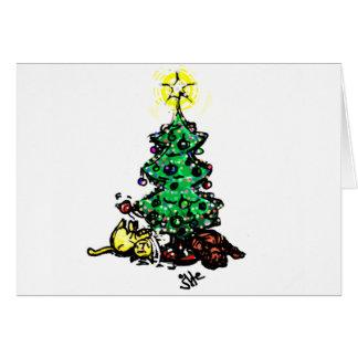 #Holidays #Kitty do #jWe | dos #Christmas | & além Cartão Comemorativo