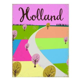 Holland coloca o poster de viagens