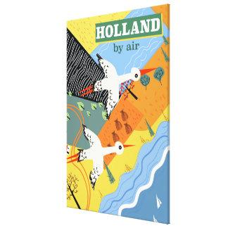Holland pelo impressão das férias do vintage do ar