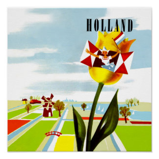 Holland, poster de viagens holandês