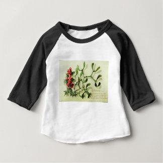 Holly_Christmas_card_ Camiseta Para Bebê