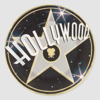 Hollywood Adesivo Em Formato Redondo