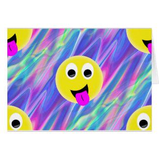 holograma do emoji cartão comemorativo