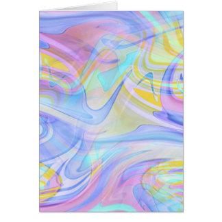 holograma pastel cartão comemorativo