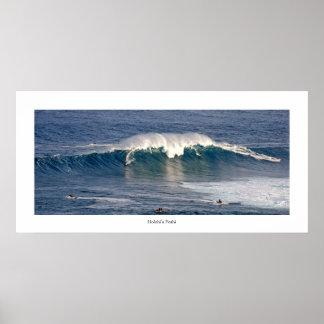 Holohi'a Peahi. poster da foto do surf. veja