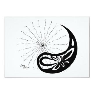 HoltZen Yin moderno lunático Yang Convite 12.7 X 17.78cm